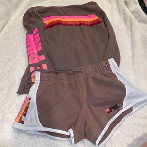 PINK matching shorts and sweater set